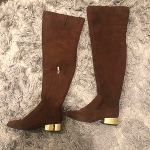 Forever 21 over the knee slouch boots